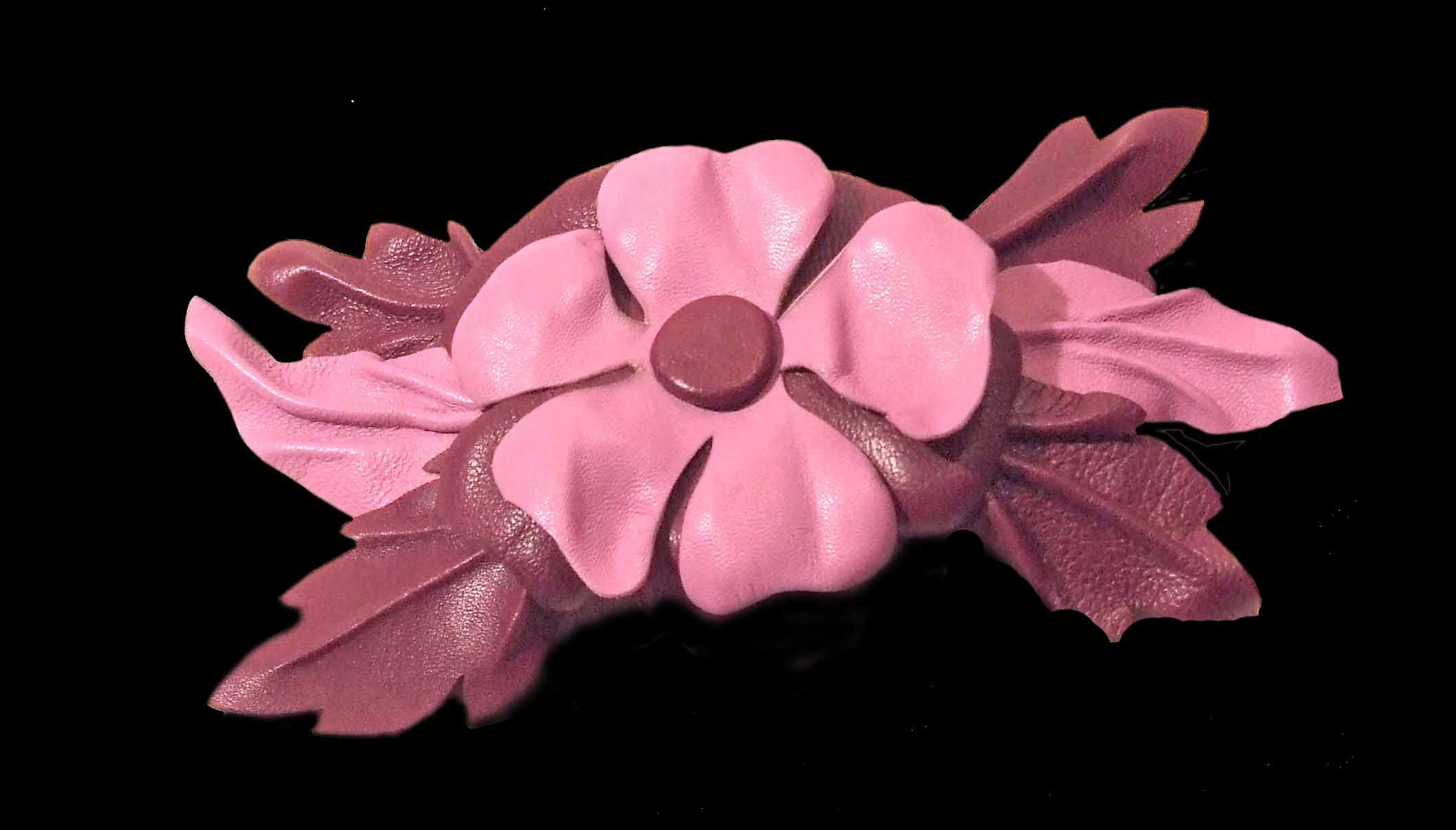Как сделать своими руками цветок из кожи 98
